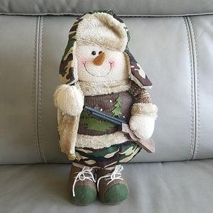 Camouflage Christmas Santa with wood rifle